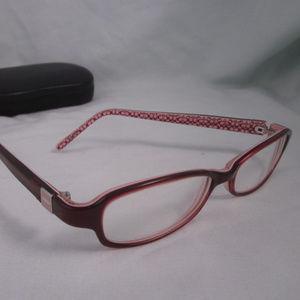 COACH Rx Eyeglasses MARLIE 533 Burgundy Plastic
